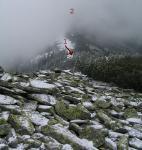 1 - місце виходу групи на хребет; 2 - г. Верх-Менчелик; 3 - безіменна висота - наступний на пн-зх горб за г. Верх-Менчелик.