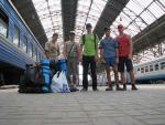 Вся наша группа перед отправлением в путь. Львовский вокзал 15-30 дня