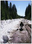 Спуск по размокшим вездеходным следам