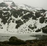 Vue du col de Rinoso depuis lac de Melo