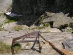 Лестница по отвесной скале на Козий Перевал...