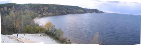 Вид с Зарубинецкого мыса на северо-запад 4-го ноября