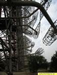 Опоры радара, оборудованные лифтами, которые поднимали обслугу на высоту более 100 метров
