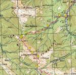 Карта траверсу г. Сивуля із позначеням точок, на які є посилання з тексту