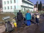 Встреча с мукачевским участником Томашем у здания погранзаставы в с. Дилове