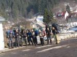 Группа в полном начальном составе перед мостом через Тису