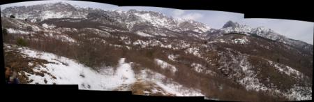 Панорама Караби, ущелье Чигинитра