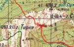 Карта Тирке Центральный