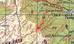 Карта перевала Перья (Диплис Северный)
