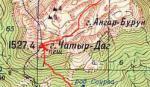 Карта Южного кулуара Эклизи-Буруна