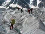 Спуск з льодовика Менсу на морену