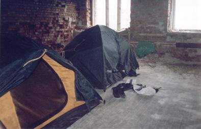 Наш 'лагерь' на втором этаже казармы