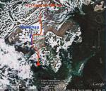 Скріншот розташування перевалу з програми Google Earth