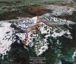 Скріншот проходження перевалу з програми Google Earth