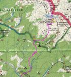 Карта з підйомом від Б. Тиси до в. Гутин-Томнатик