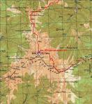 Карта розташування та проходження перевалу