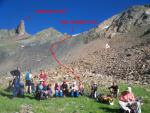 Вид на перевальный взлет пер. Алибек
