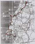 Карта. Первая часть маршрута