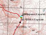 перевал Карасай на мапі
