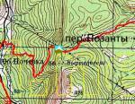 перевал Позанти на мапі
