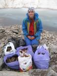 Собранный мусор с перевала