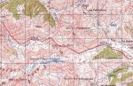 Карта маршрута в районе перевала Чаухи (1А, 3338)