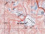 Карта маршрута в районе перевала Кибеши Западный (1Б, 3450)