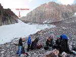 Первый взлет ледника под пиком Адамташ