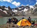 Наш лагерь на мутных озерах