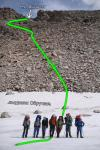 Спуск на ледник Колоскова
