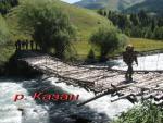 Мост через р. Казан в месте впадения в реку Караарык и образования Коксу