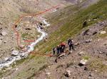 Подъём на левый борт долины в обход каньона