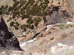 Вид с плато вниз на каньон реки Илликсу