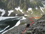Шлях руху від верхнього озера