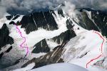 Льодовик Східний Суатісі і перевал Лушнікова з Казбека
