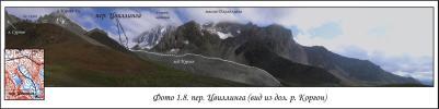 Перевал Цвиллинга (вид из долины реки Коргон)