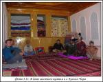 В доме местного жителя в селе Кызыл-Чара