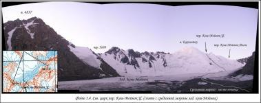 Северный цирк перевала Кош-Мойнок Центральный (снято со срединной морены ледника Кош-Мойнок)