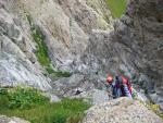 Прохождение каньона при спуске с пер.Обишир