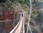 Новый подвесной мост через р.Сарытаг в к.Сарытаг