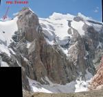 Вид с седловины перевала на северо-запад