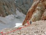 Подход к перегибу при выходе на скальные сбросы