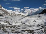 Фото 8. Долина ледника Пролетарский турист. Слева видно начало стены п.Победы.