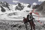 Спуск по леднику Котор