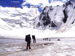 На леднике Орой. Вид назад
