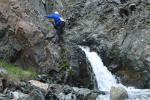 Участки легкого лазания в каньоне