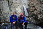 Возле водопада в каньоне