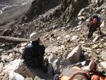 Прохождение второго скального сброса на спуске, станция R0