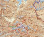 Карта маршрута 1см:5км