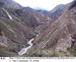 Вид с плеча над главным каньоном Койкапа на пойденный путь